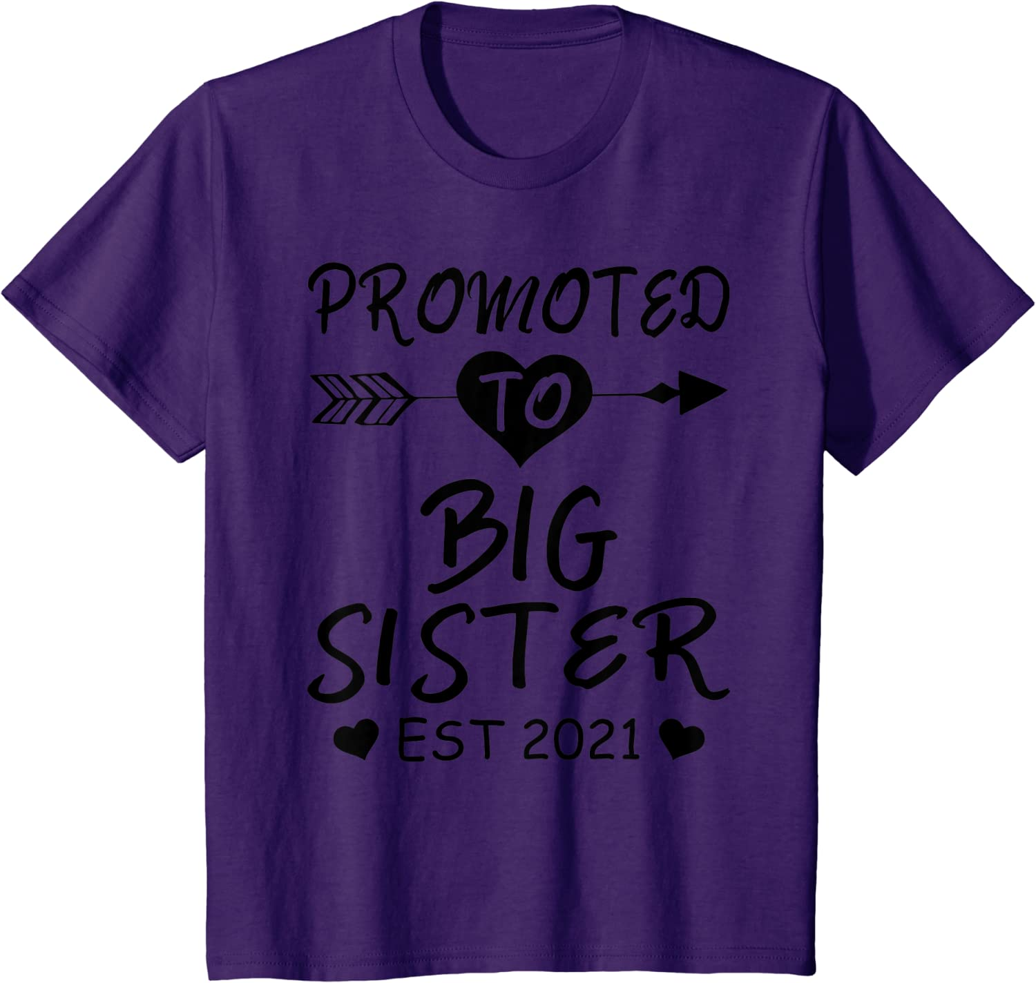 2021 Sibling Announcement Shirts for Baby and Toddler Girls Sibling Outfits Olive Loves Apple Promoted to Big Sister Est
