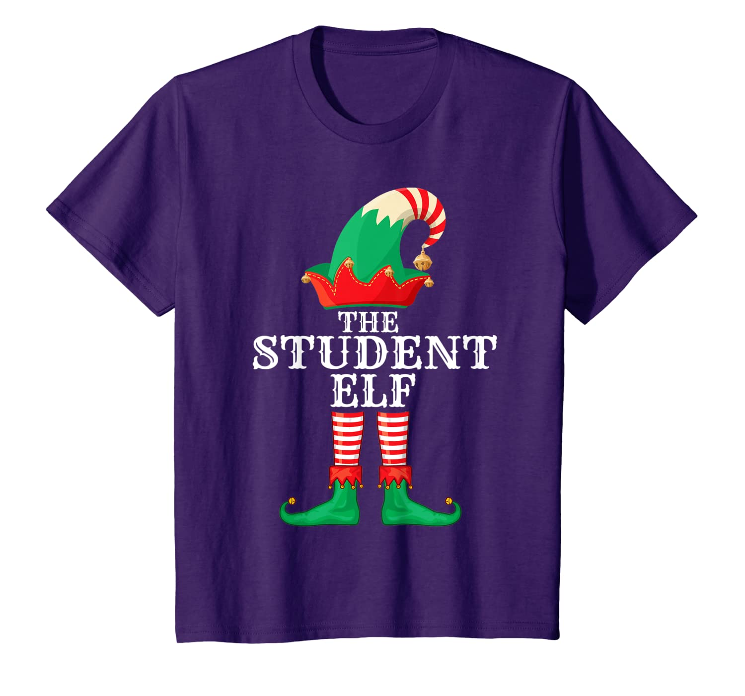 Student Elf Matching Family Group Christmas Party Pajama T-Shirt