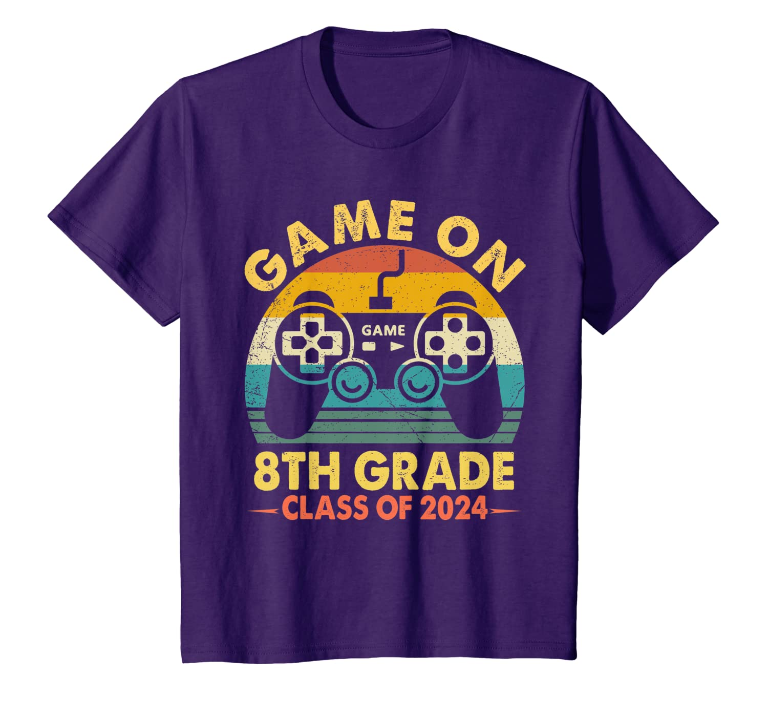 Amazon com: Game On 8th Grade Gamer Class of 2024 Vintage