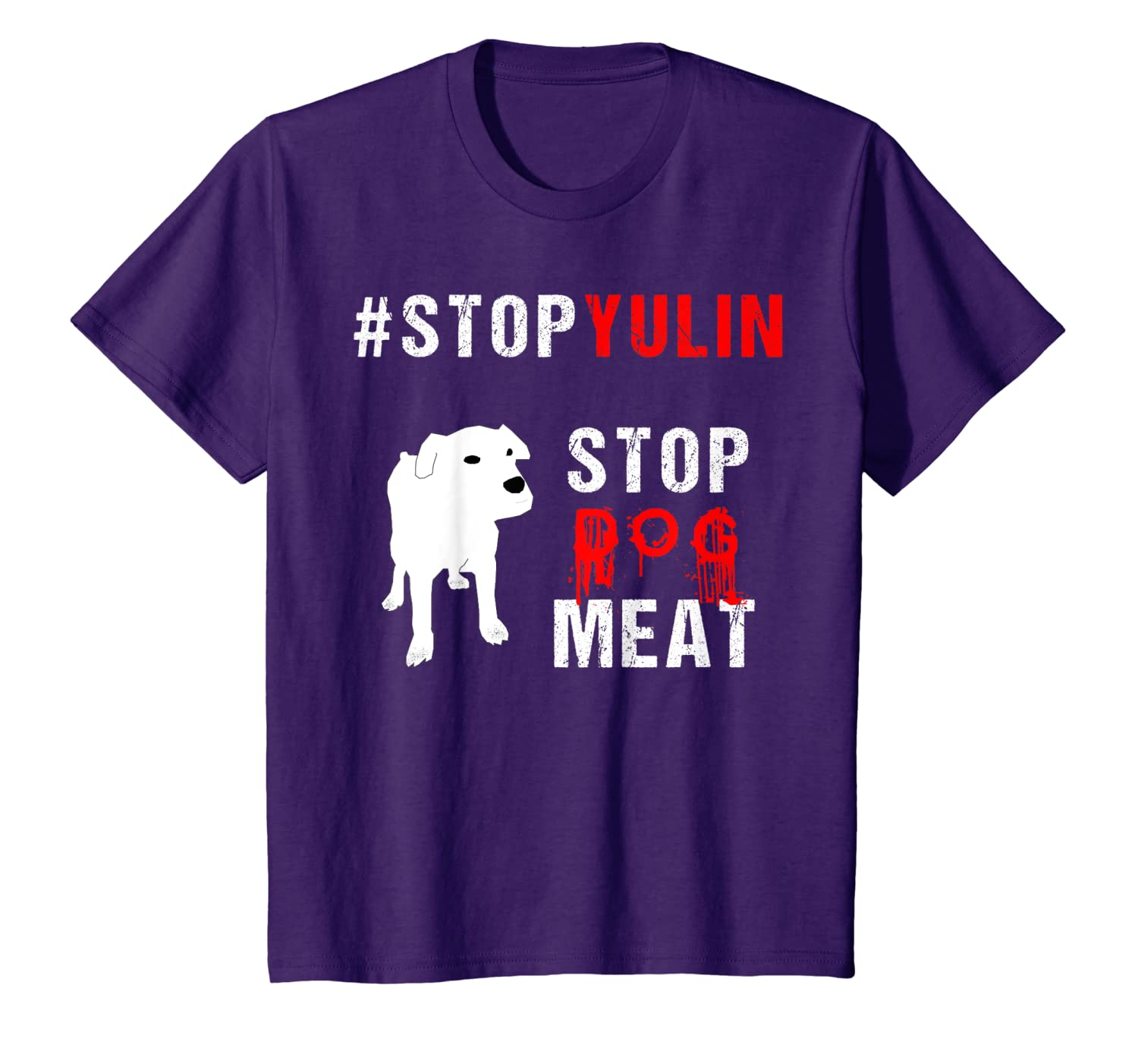 Animal Rights-stop Yulin Stop Dog Meat Festival T-shirt - Dogs Shirts