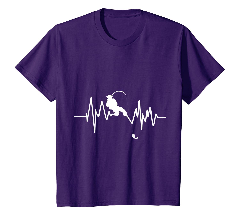 4bb1d1547 Amazon.com: Funny Fishing Heartbeat T-Shirt Cool Fisherman Fish Gift:  Clothing
