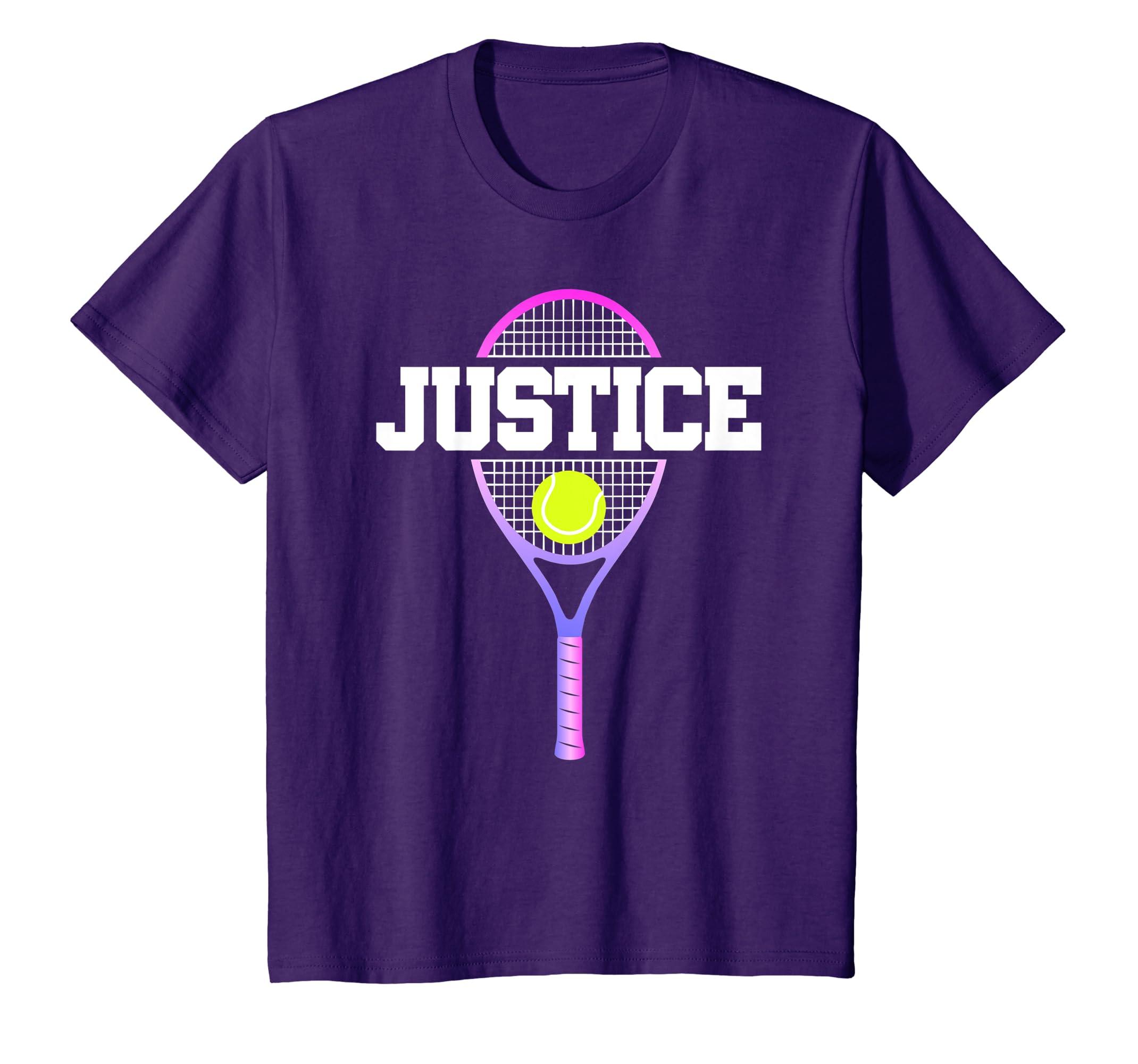 Amazon Kids Tennis Girl Justice Birthday T Shirt Racket Name Gift Clothing