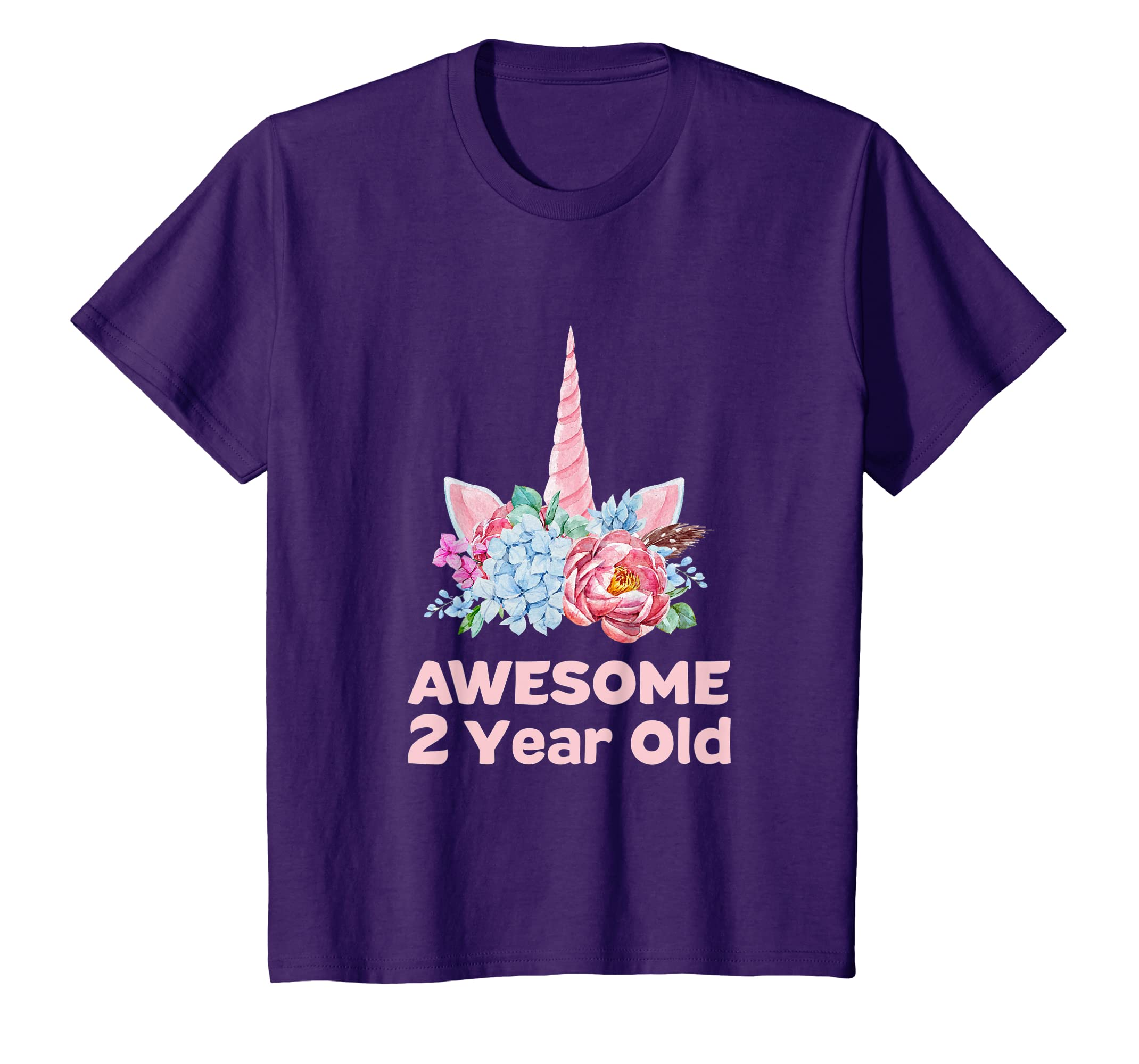Amazon 2nd Birthday Unicorn Shirt Girls Age 2 Year OId Niece Gifts Clothing