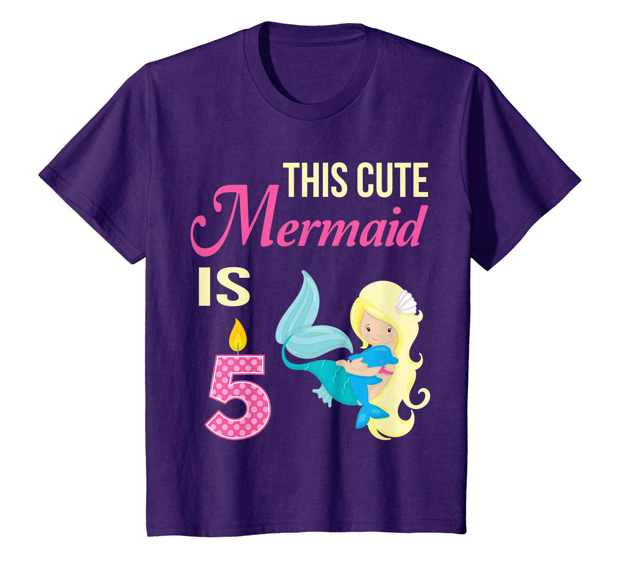 Amazon Kids Mermaid Birthday Shirt 5 Year Old 5th Party Girls Clothing