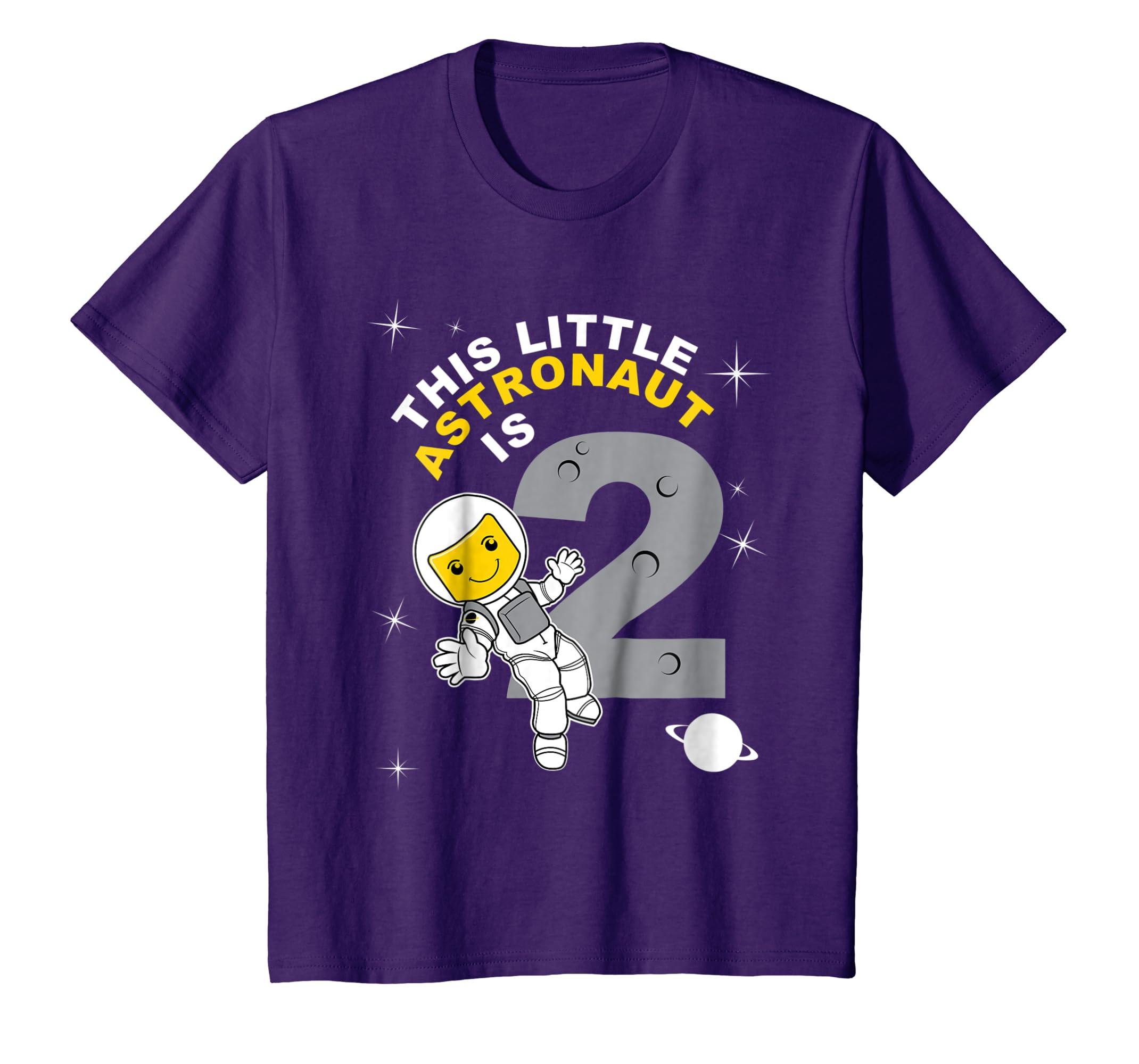 Amazon Kids 2nd Birthday Girls Astronaut T Shirt Space 2 Year Old Clothing
