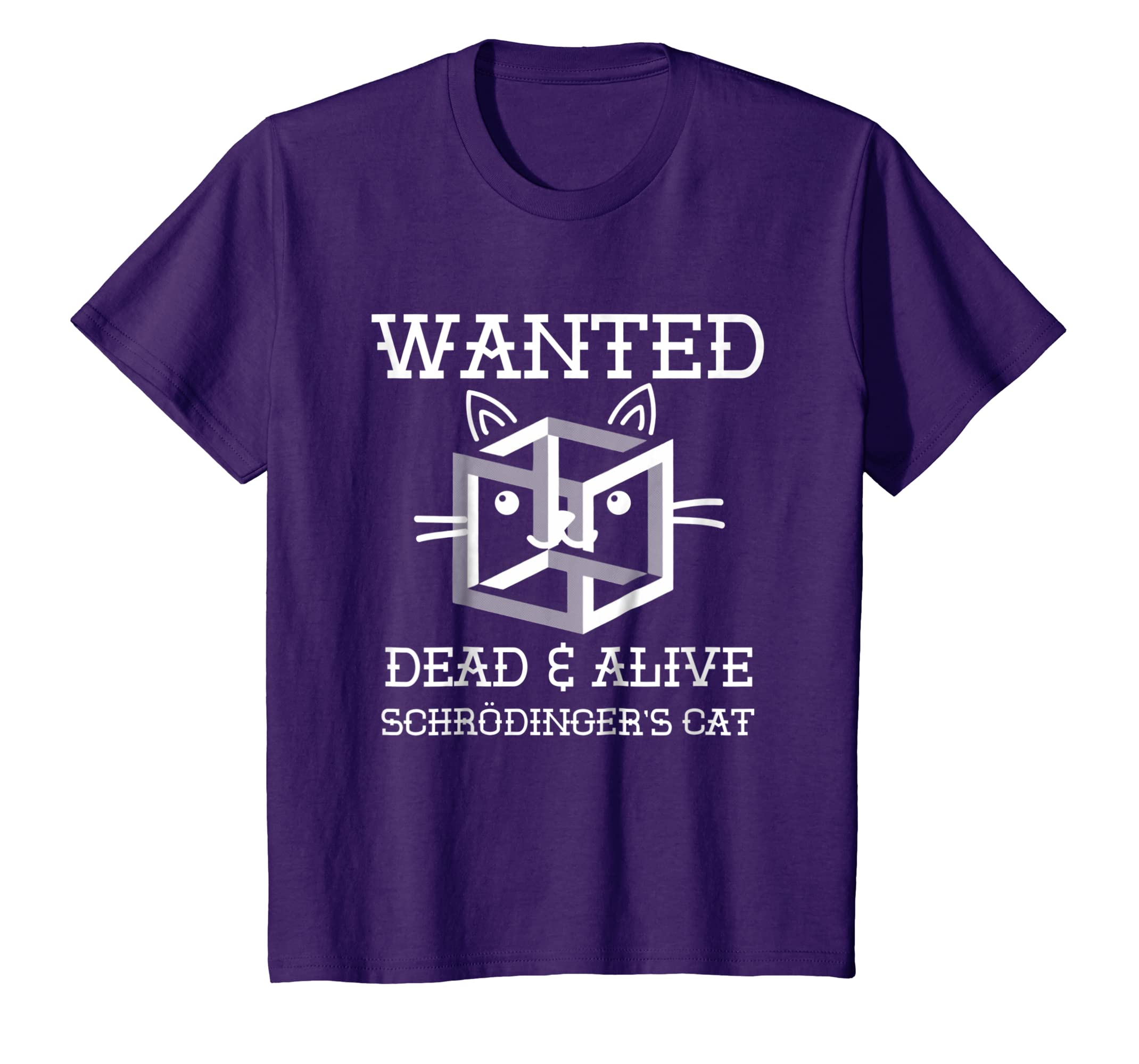 b434d5ca Amazon.com: Wanted Dead and Alive Schrodinger's Cat Shirt, Science Gifts:  Clothing