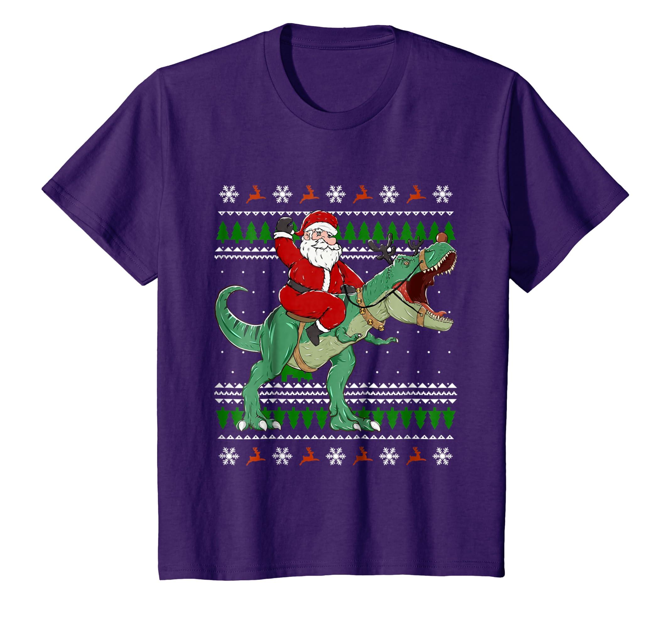 2049f2ada3a6 Amazon.com  Santa Riding Dino