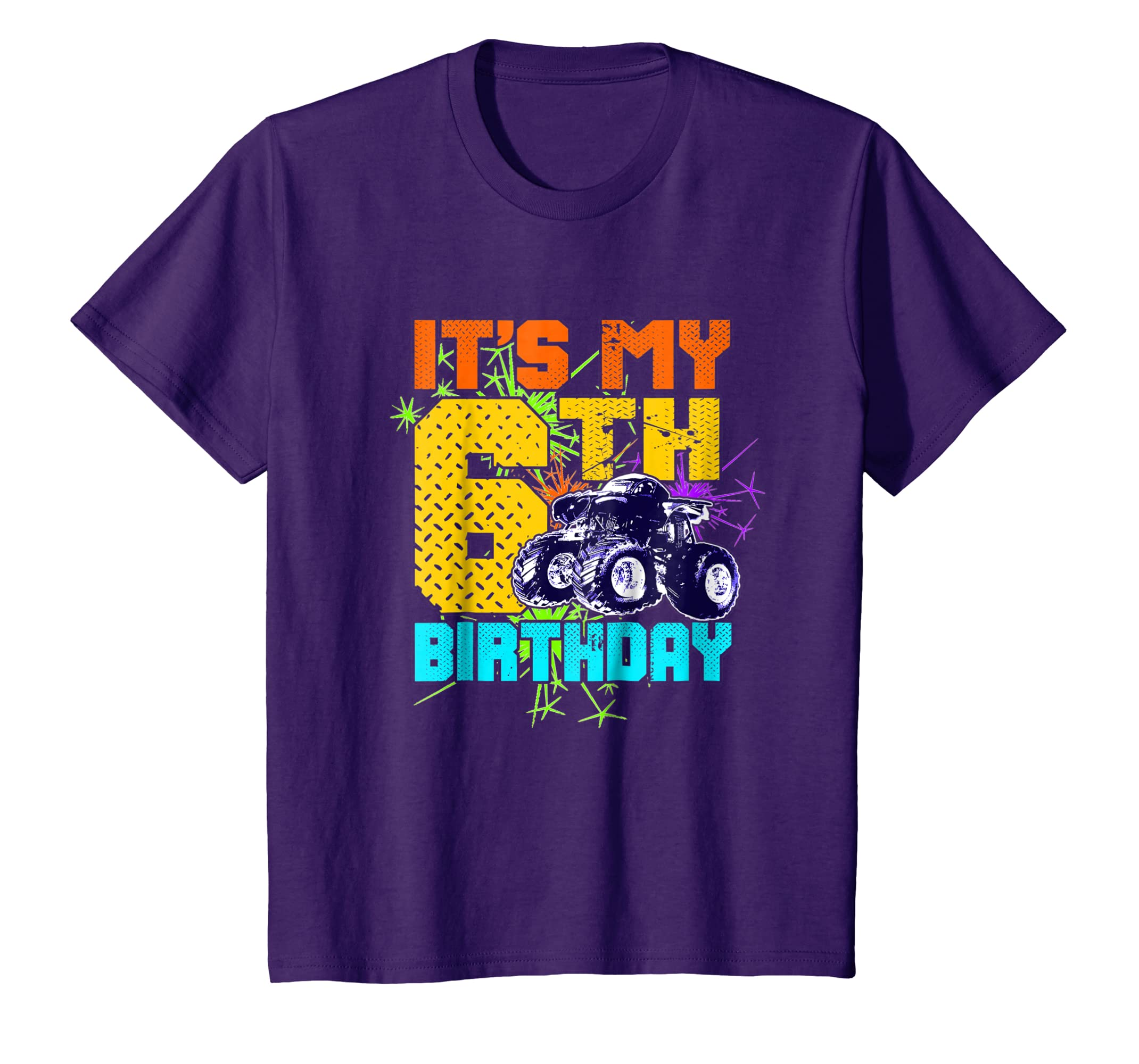 Amazon Kids 6 Year Old Birthday Shirt Boy Monster Truck 6th Tee Clothing