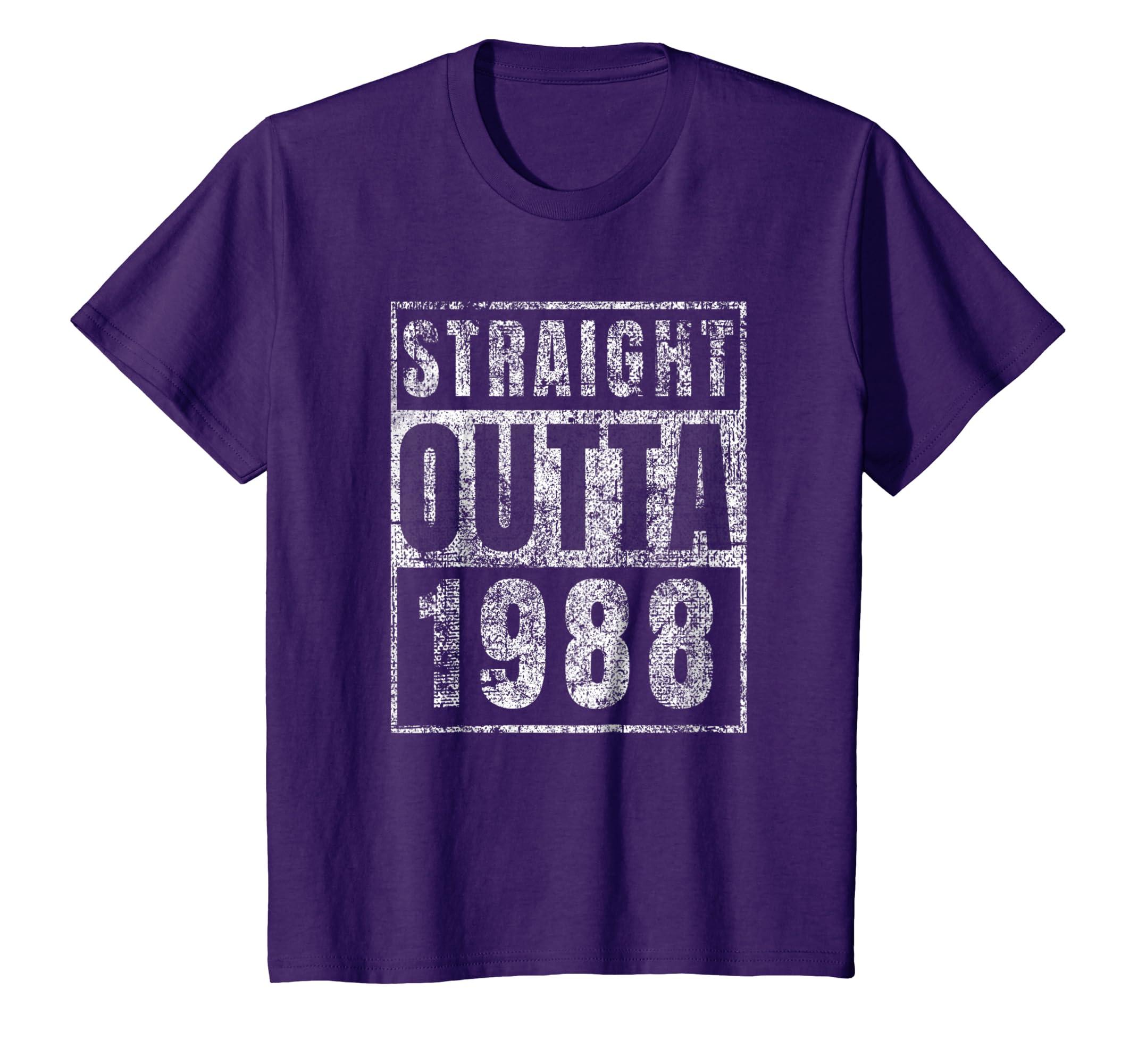 Amazon Straight Outta 1988 T Shirt 30th Birthday Gift Men Him Funny Clothing