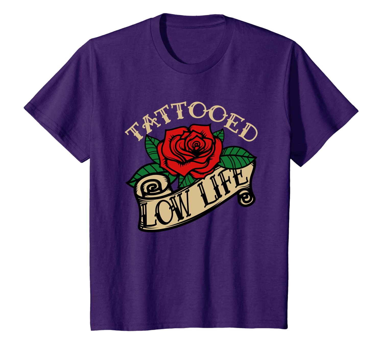 Amazon.com: Tattooed Low Life Rose Work Funny Gift Men Woman ...
