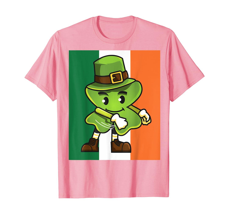Funny Floss Dance Shamrock St Patricks Day Irish Flag T-Shirt-Awarplus