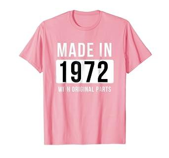 Amazon.com: Fabricado en 1972 T Camisa Born en 1972 Camisa ...