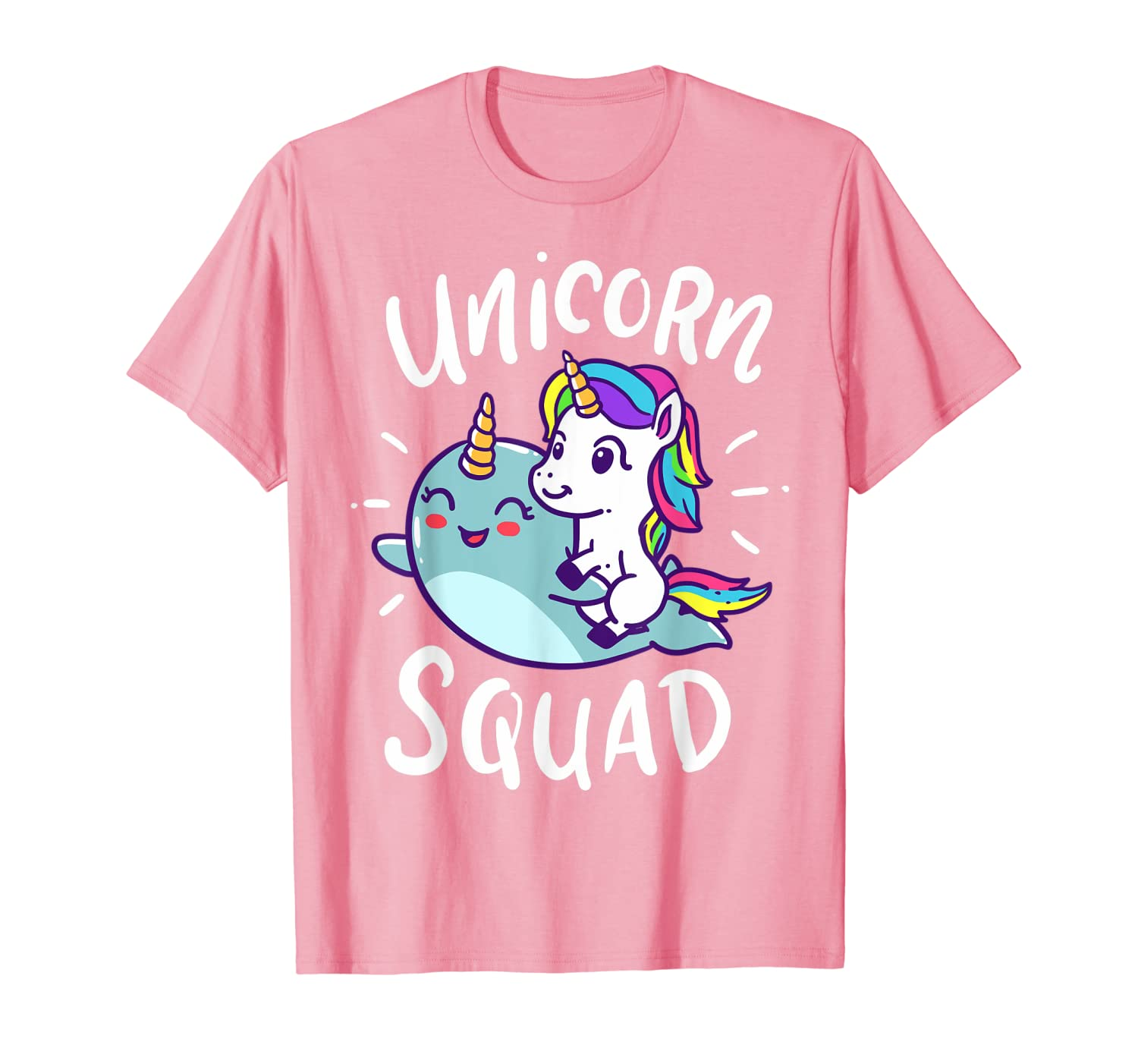 Unicorn Squad Narwhal Funny Cute Birthday Party Present Gift T-Shirt