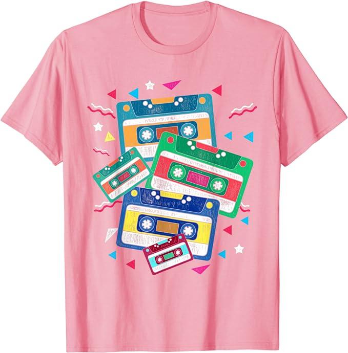 Light Pink 80s Cassettes T-shirt