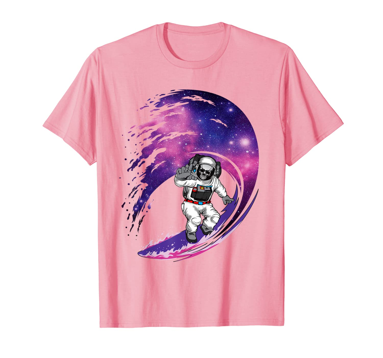 Astronaut Skeleton Surfing Galaxy Halloween Space Geeks Gift T-Shirt
