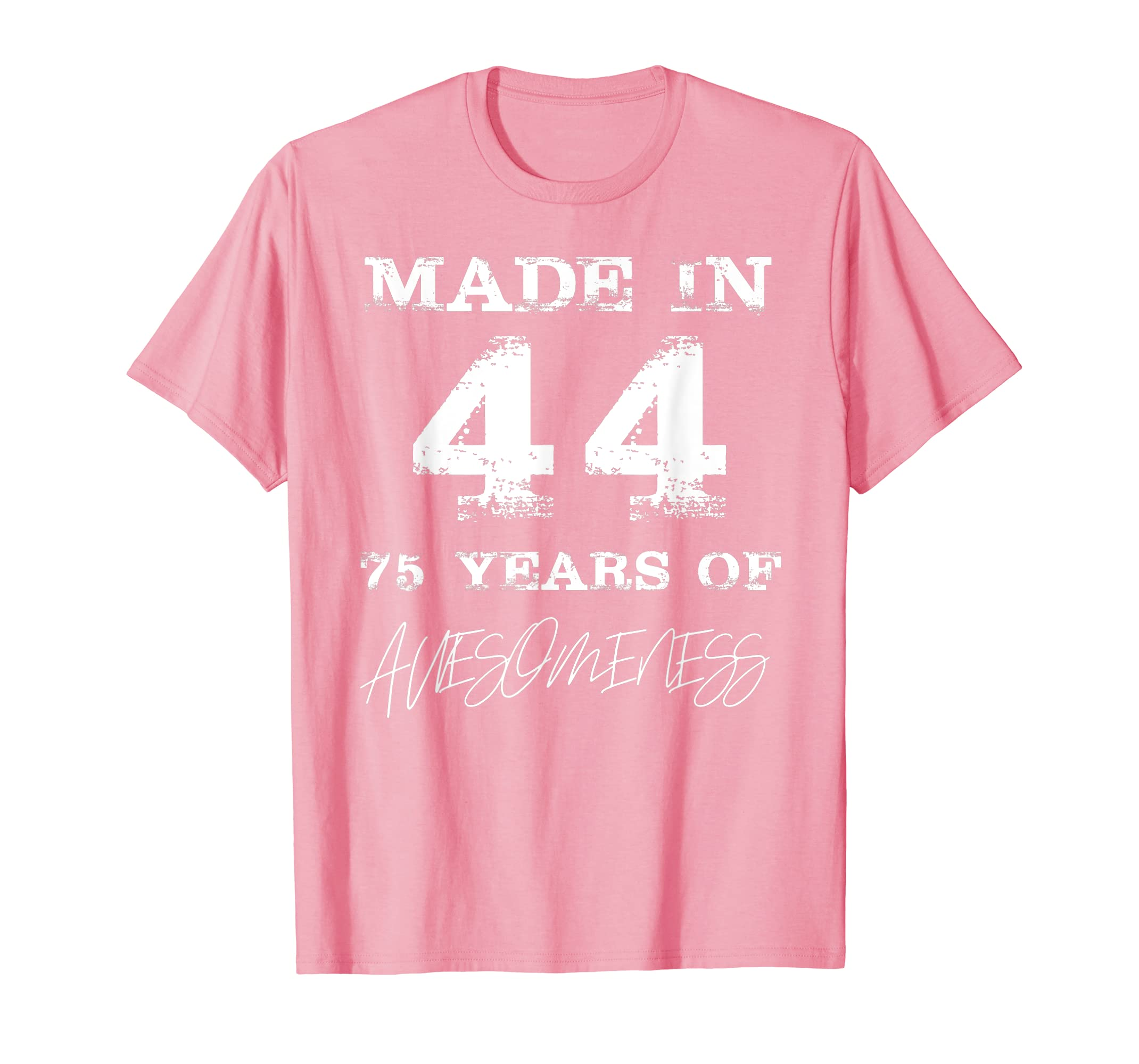 Amazon Made In 44 75 Years Of Awesomeness 75th Birthday T Shirt Clothing