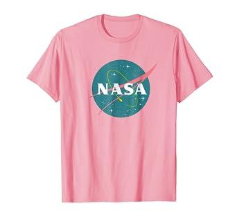 Amazon.com  Vintage Girls Nasa T-Shirt - Pink Retro Nasa  Clothing 3b718fee3