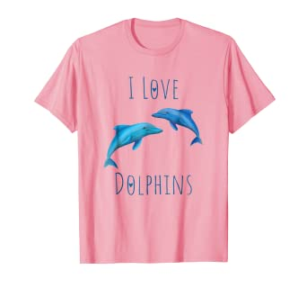a220acb1 Image Unavailable. Image not available for. Color: Cute Pink Dolphin T Shirt  For Girls