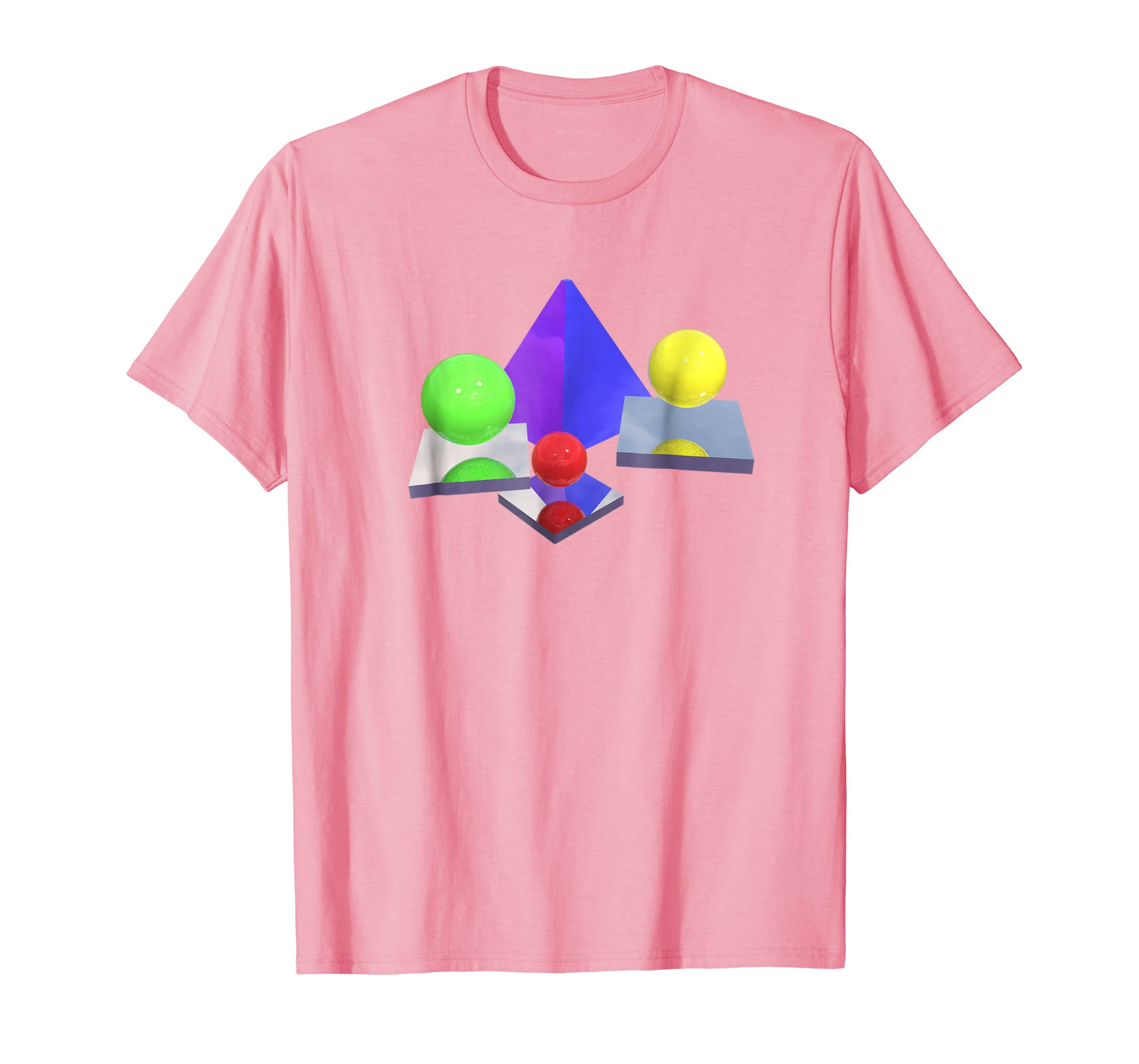 Swiftmy 1990s 3d Shapes Geometric Vaporwave Shirt Swiftmy Cool T