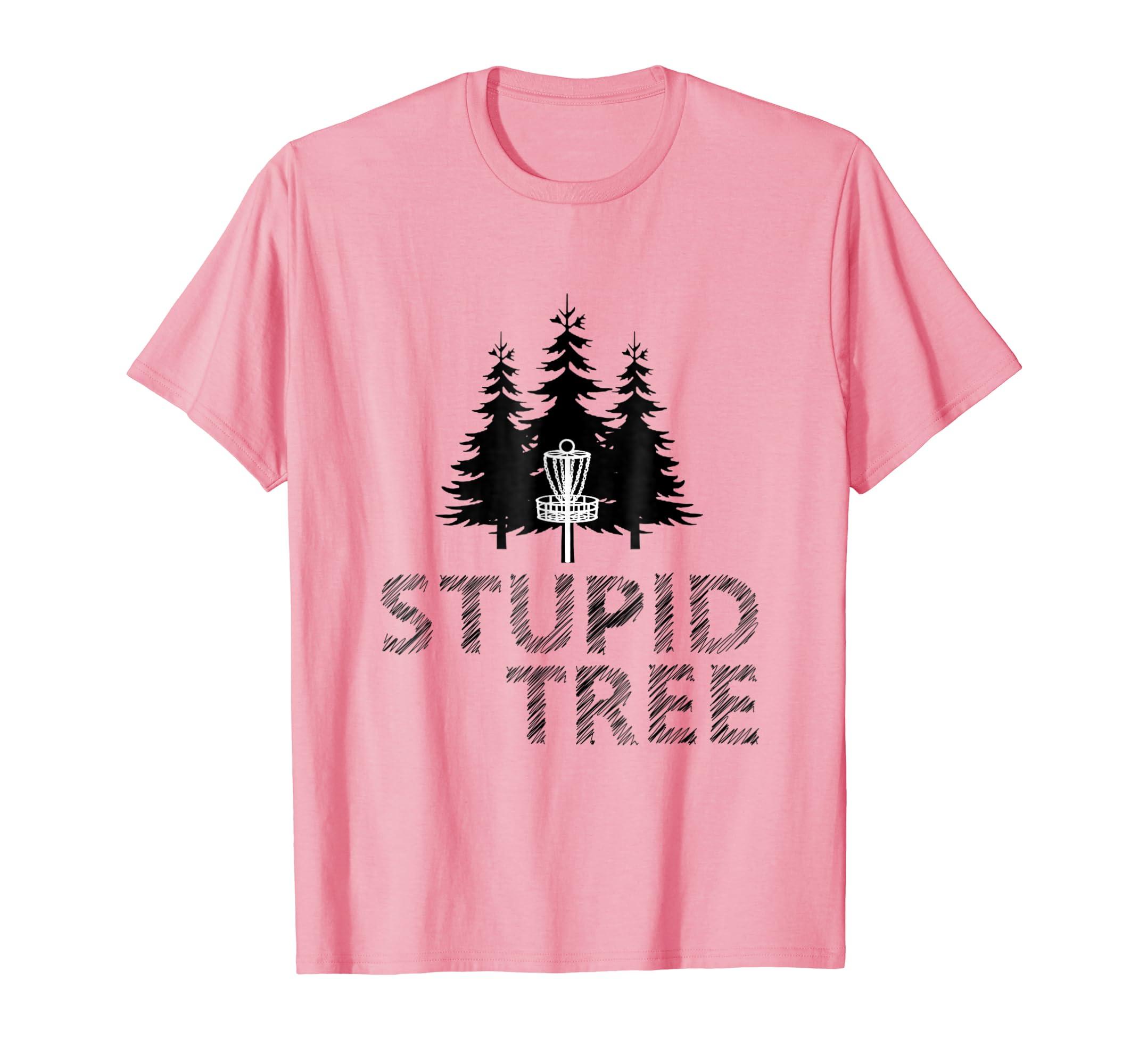 7c6bc951e Amazon.com: Stupid Tree Disc Golf T-Shirt | Funny Frisbee Golf Tee: Clothing
