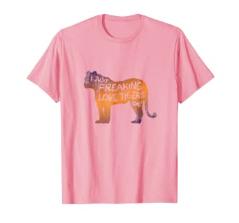39b4d66b7049 Image Unavailable. Image not available for. Color: Love Tiger Animal Print  Design T Shirt ...