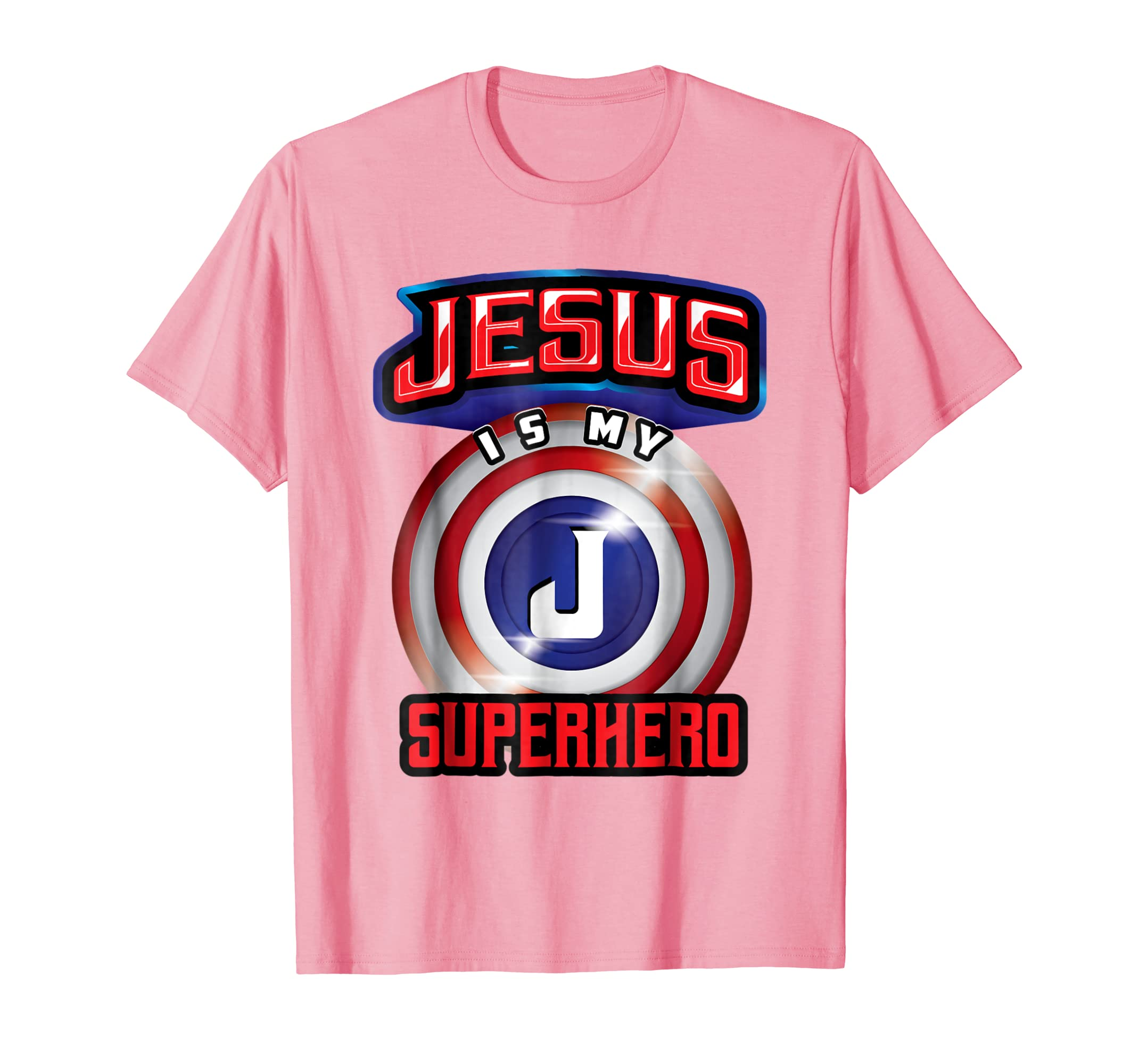 Amazon.com: Jesus Is My Superhero Shirt   Cute Powerful Christian ...