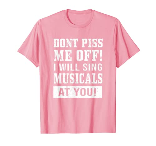 Funny BROADWAY MUSICALS Gift Theatre Nerds Quotes T-Shirt