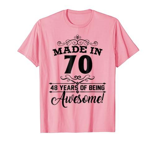 Happy 1970 Its My 48th Years Old Birthday Gift Ideas Tshirt