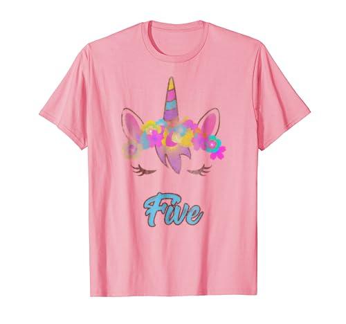 Whimsical 5th Birthday Unicorn Shirt