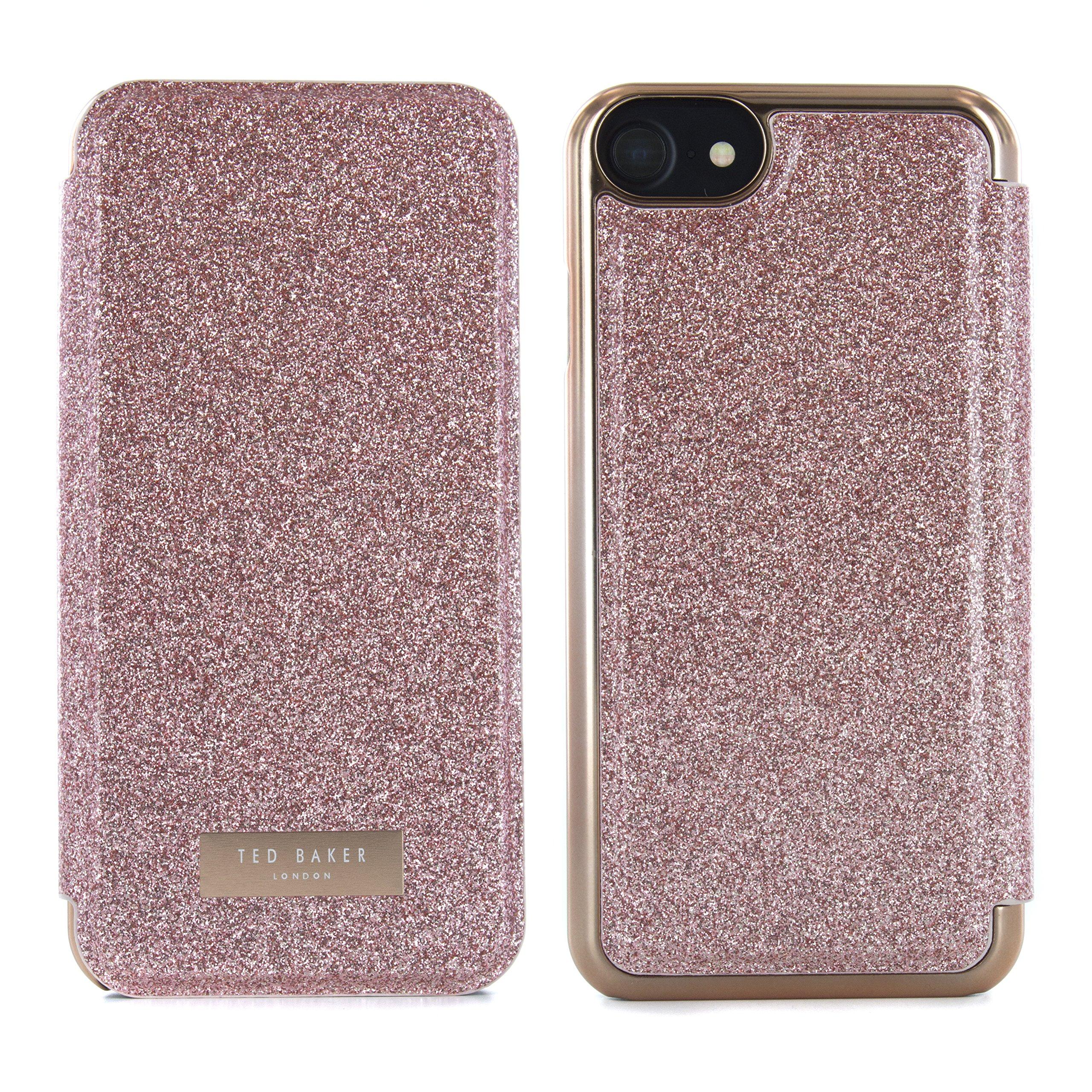 Oficiales de Ted Baker® SS17 Funda con Tapa para Apple iPhone 7 – glitsie – Oro Rosa: Amazon.es: Electrónica
