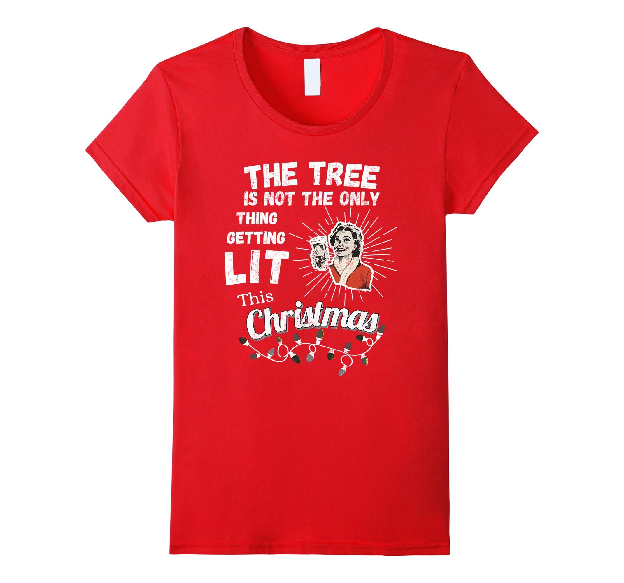 Tree Thing Getting Lit T shirt-Tovacu