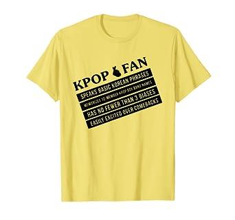 Amazon.com: K-Pop camisa Kpop Ventilador atributos lista ...