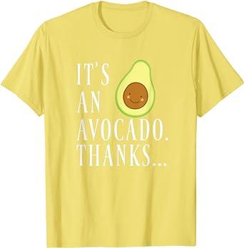 Avocado T Shirt Funny Avocado Clothing TShirt Christmas Gift