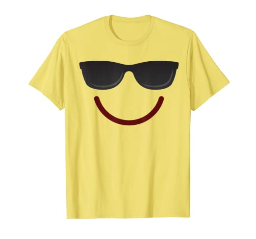 Halloween Emojis Costume Emoticon Smile Sunglasses T-Shirt
