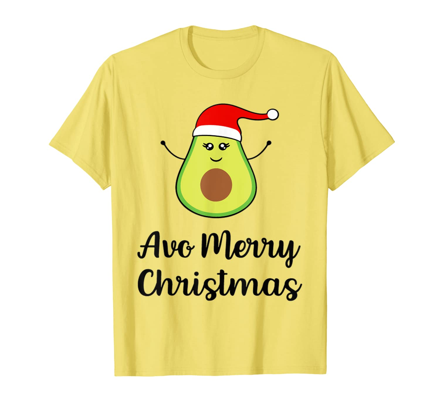 Santa Avocado Avo Merry Christmas Avocado Gift For Vegan T-Shirt