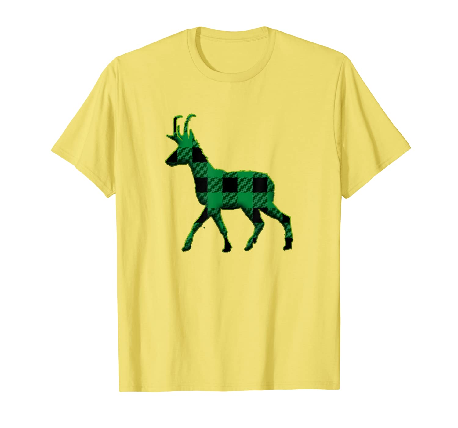 Pronghorn Green Plaid St Patricks day T-Shirt