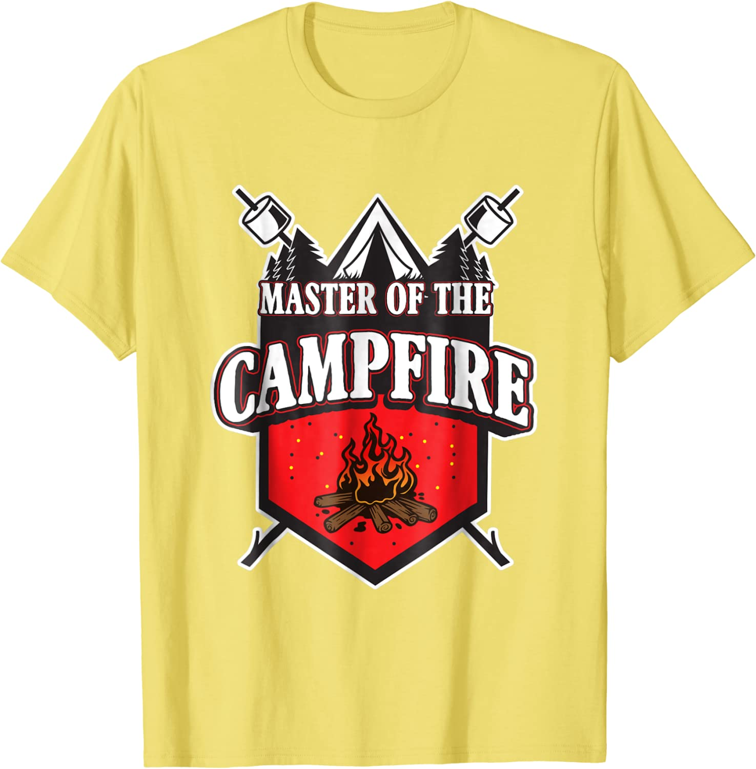 Unisex /& Women/'s Shirts Master Of The Campfire Campfire T-Shirt Cute Camping Camping Gift Camping Shirt Camping Lover