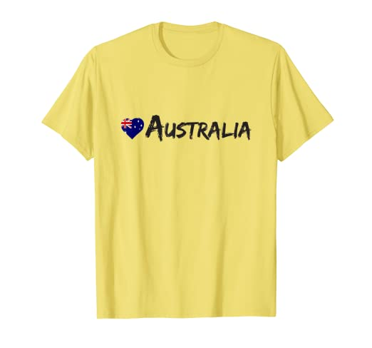 7160a6e32 Image Unavailable. Image not available for. Color: Mens Love Australia T  Shirt Country Australian Flag Souvenir Gift