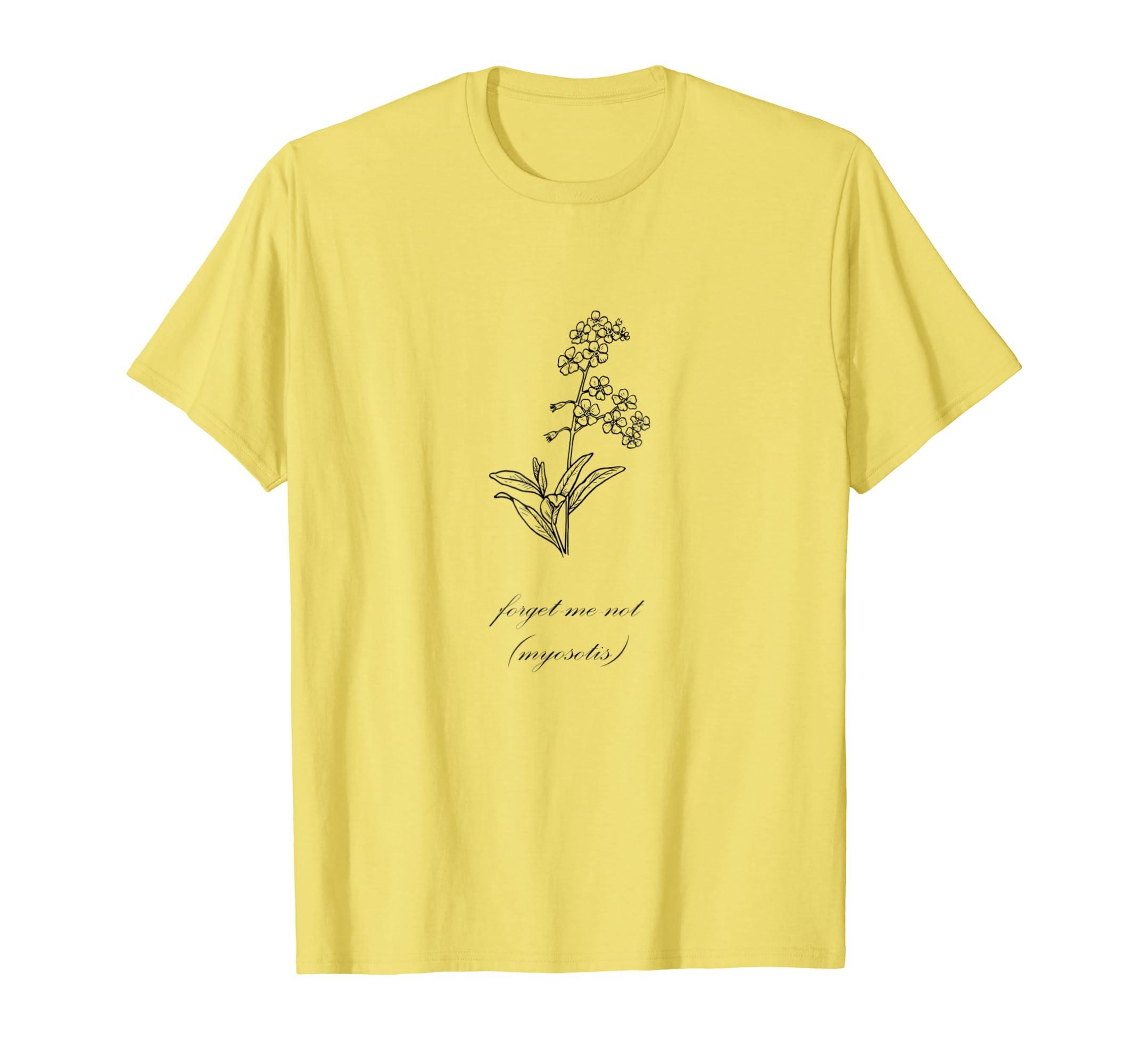 e29d6acfc93c Amazon.com: Forget Me Not Flower - Men Women Children T-Shirt: Clothing