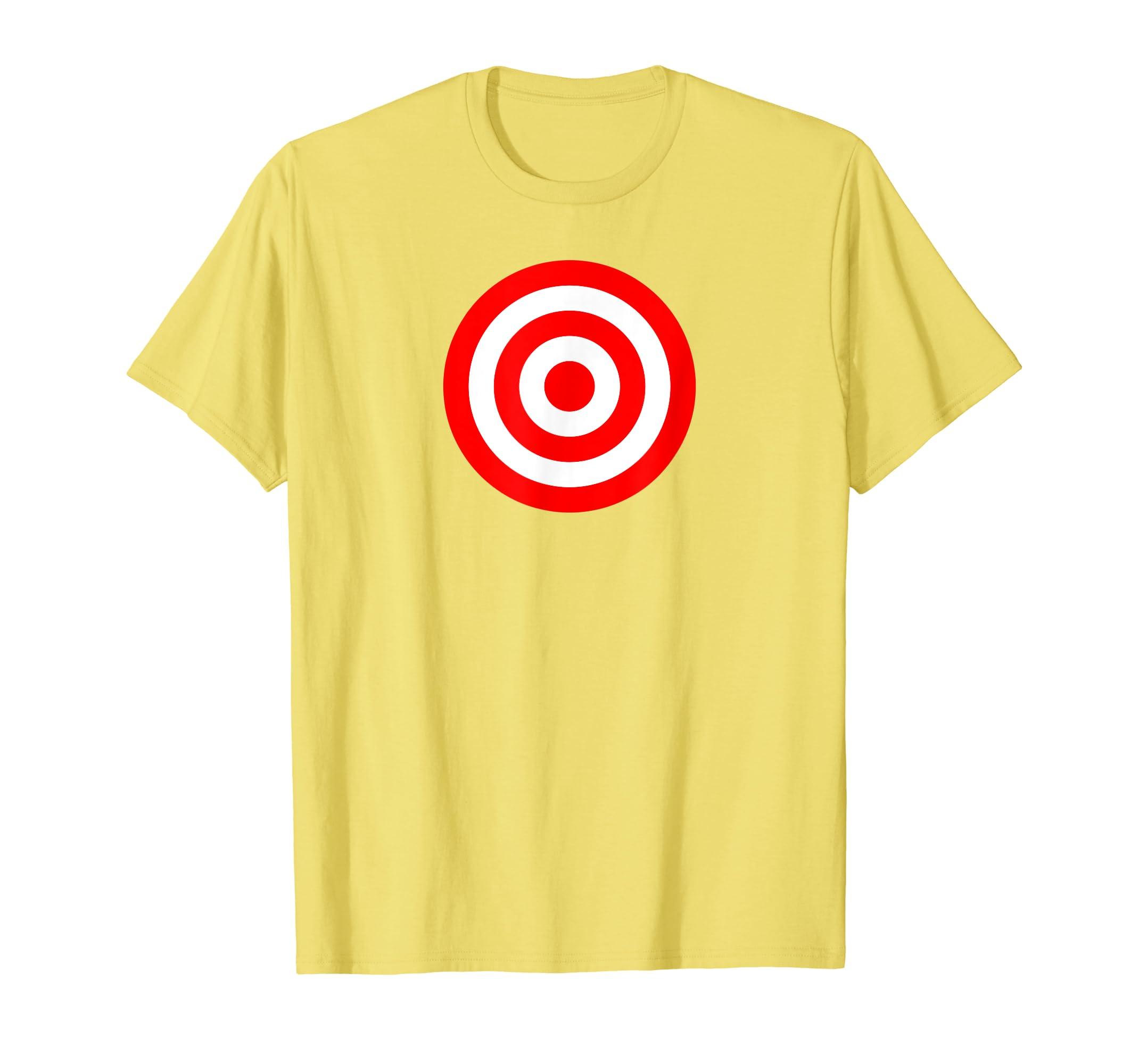 06aeaf9276 Bullseye Red & White Shooting Rings Target Funny Tee Shirt ...