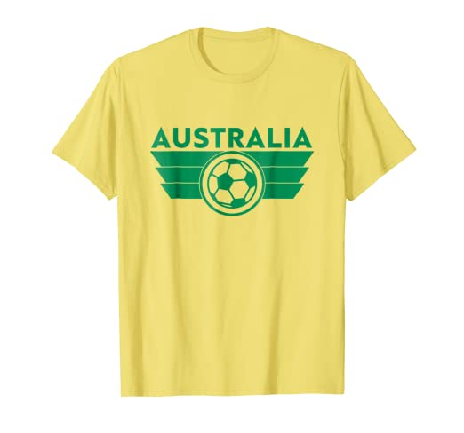 7c9b9b6f217 Image Unavailable. Image not available for. Color: Australia Soccer Jersey  Shirt ...