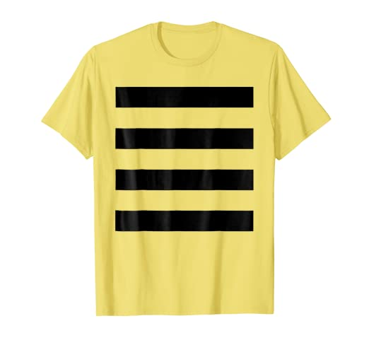 0c56fe81ef Image Unavailable. Image not available for. Color: Bee Halloween DIY  Costume Shirt - Black Stripes on Yellow