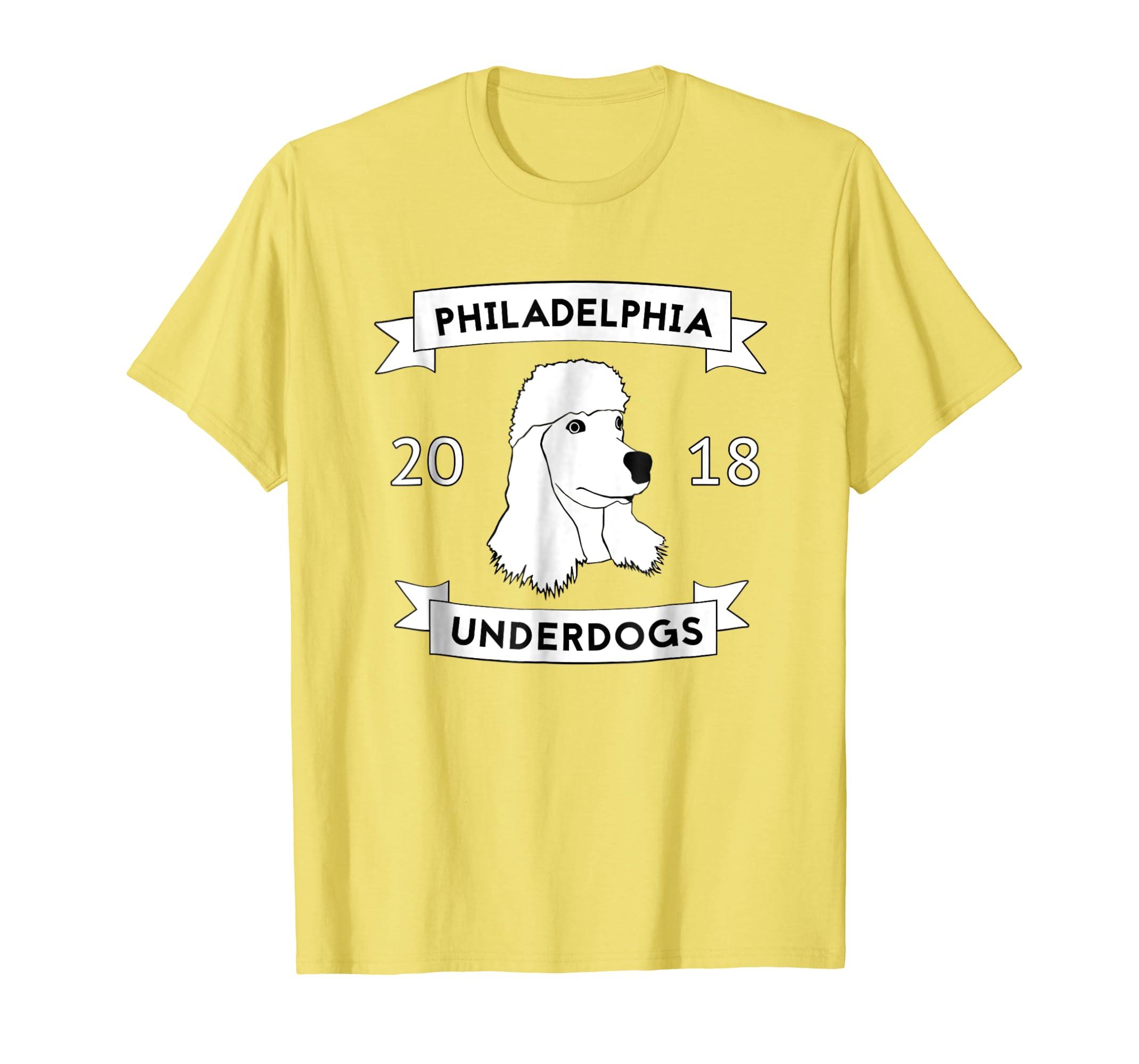 9c9c94dfe Amazon.com  Philadelphia Underdog Mask Funny Poodle Football T Shirt   Clothing
