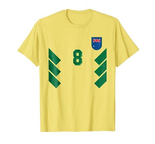 7f1b89316a4c Amazon.com  Retro Australia Football Jersey Aussie Soccer 90s T ...