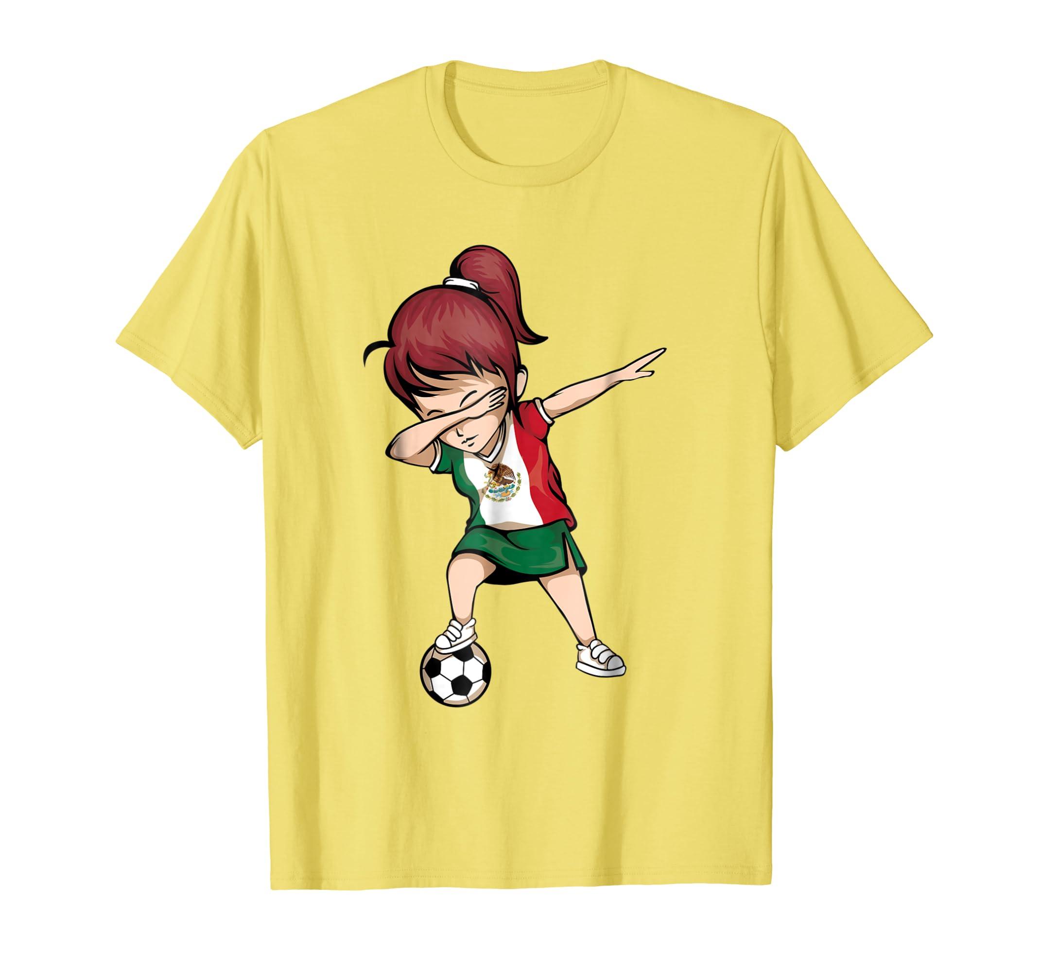 0ef15e86d ... Dabbing Soccer Girl Mexico Jersey Shirt - Mexican Football-prm ...