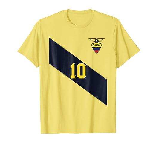 Retro Ecuador Soccer Jersey Futbol T-Shirt Camiseta