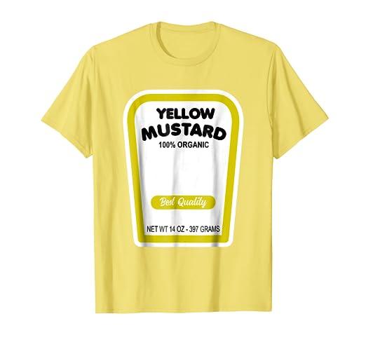 b7f50ab0da Amazon.com: Funny Organic Yellow Mustard Halloween Costume T-Shirt ...