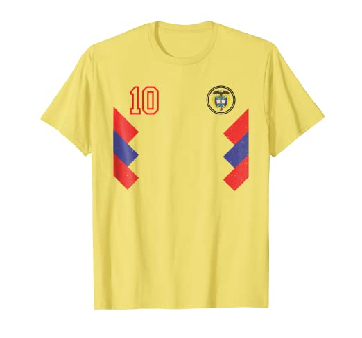 9b8b92cb3 Image Unavailable. Image not available for. Color  Retro Colombia Soccer  Jersey ...