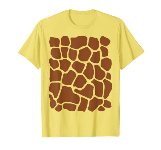 fb66cbb4 Image Unavailable. Image not available for. Color: Giraffe Print Simple  Halloween Costume Cute T-shirt