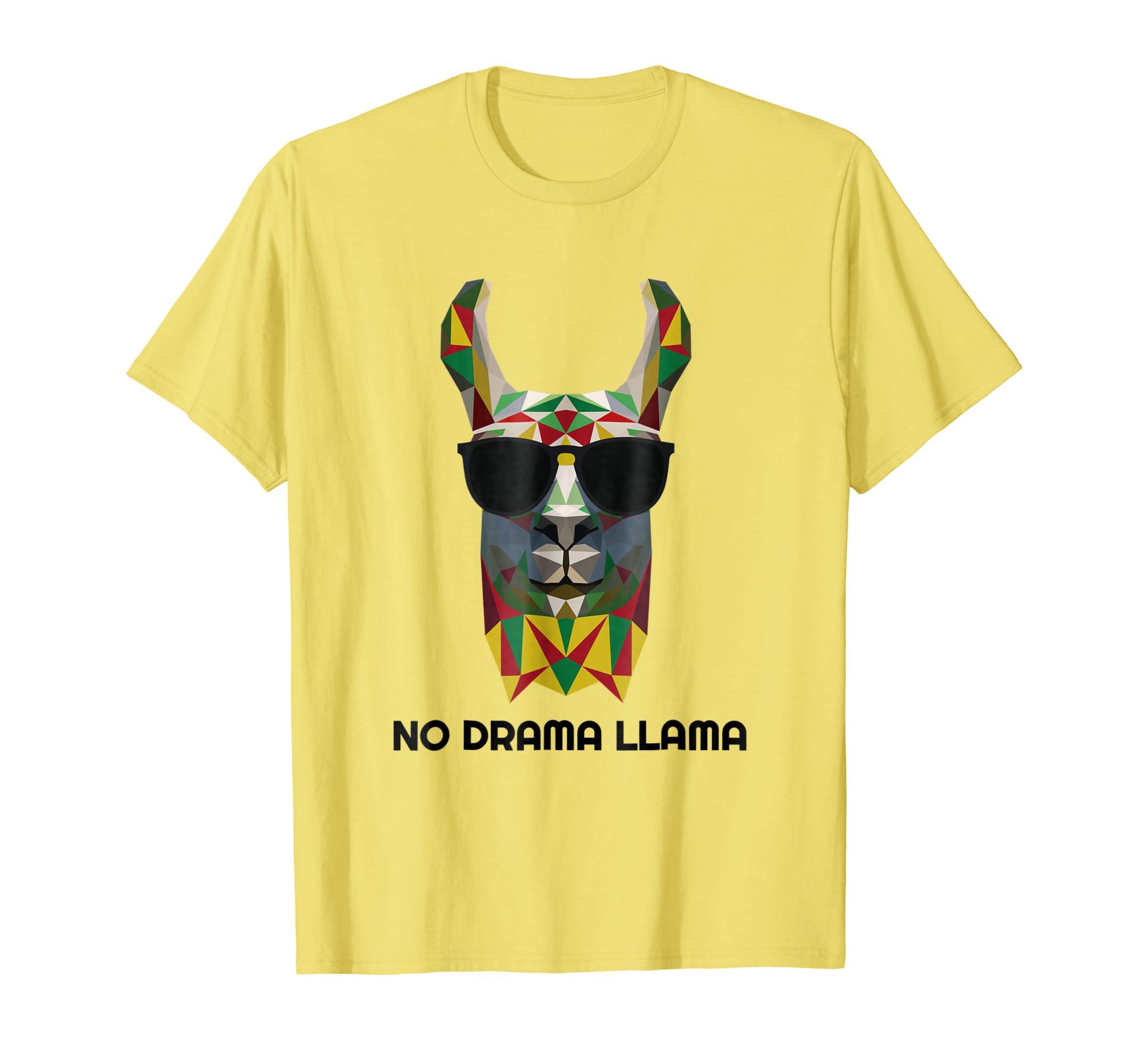 Llama Shirt No Drama Llama for Alpaca and Llama Lovers-SFL